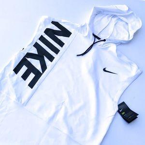 Nike Sleeveless DriFit Hooded Logo Tricot M NWT